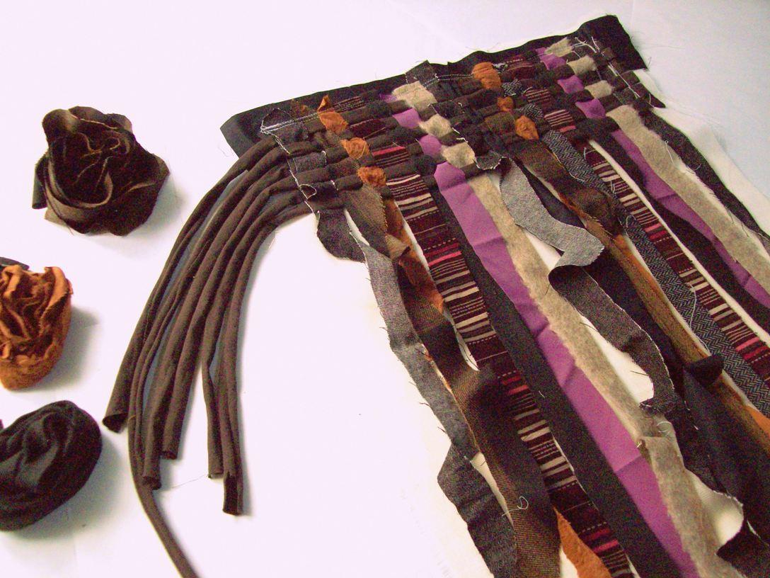 tessitura con trama in maglina