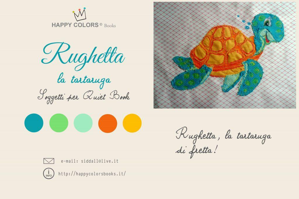 Tartaruga Rughetta Applicazione in stoffa