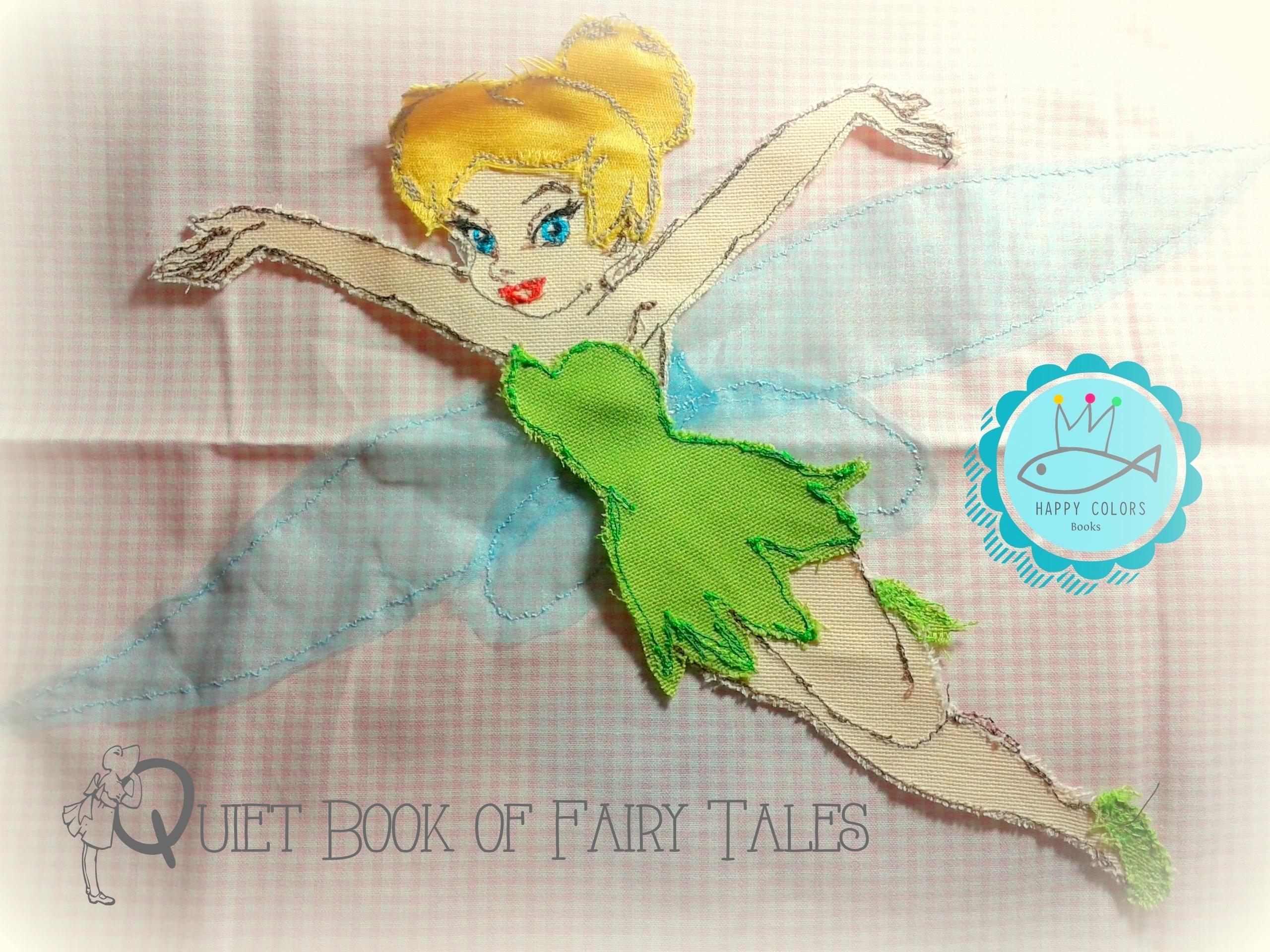 Tinker Bell Fata Peter Pan - applicazione di stoffa